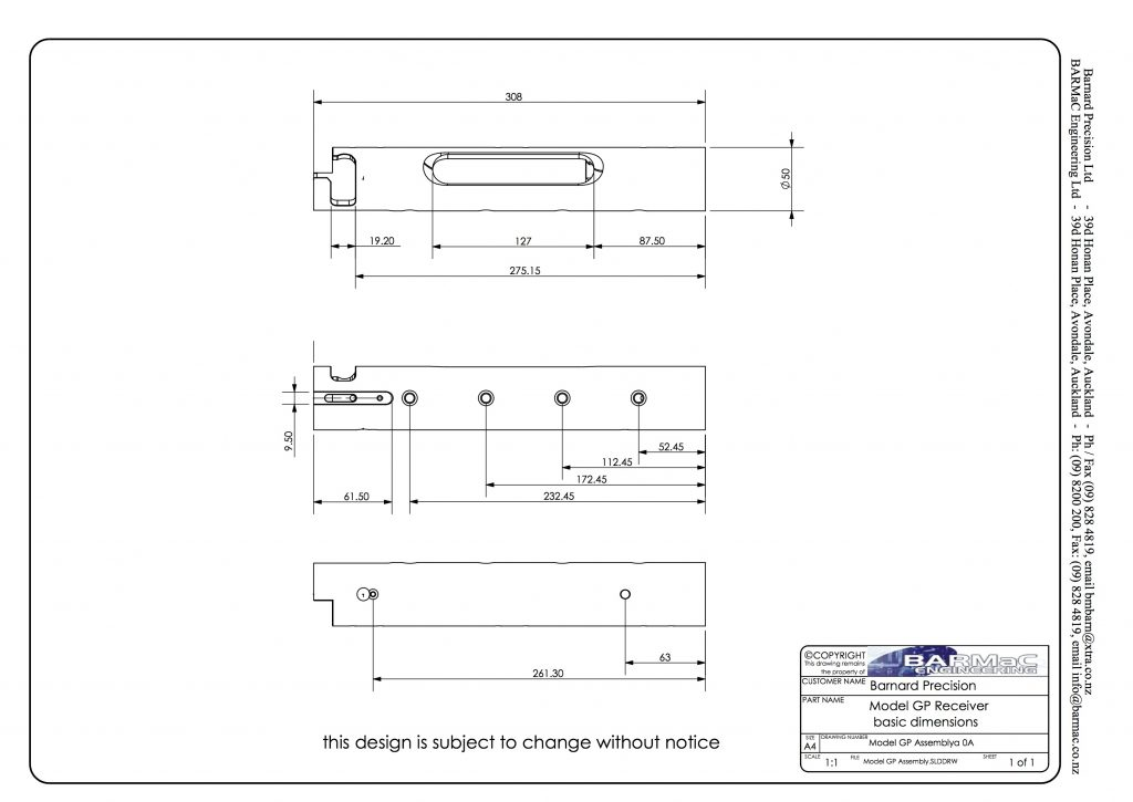 Model GP Technical Drawing